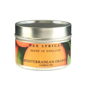 Mediterranean Orange TIN Made In England Scented Candles Wax Lyrical 16 Hours